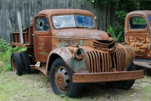 a beautifully rusted old truck